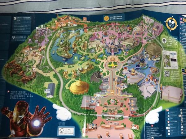 迪士尼地图  建议拿两张,有中文版和英文版,不要拿错了.图片