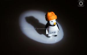 """【南极洲图片】【快门变奏曲】(南极原创图文故事) 冰箱贴里的世界—小企鹅""""彭(pěng)彭(péng)""""的某天"""