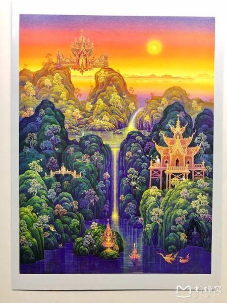 尤其关于象神预支过去未来,涅盘重生,天堂,智慧树等想象画出,真是让