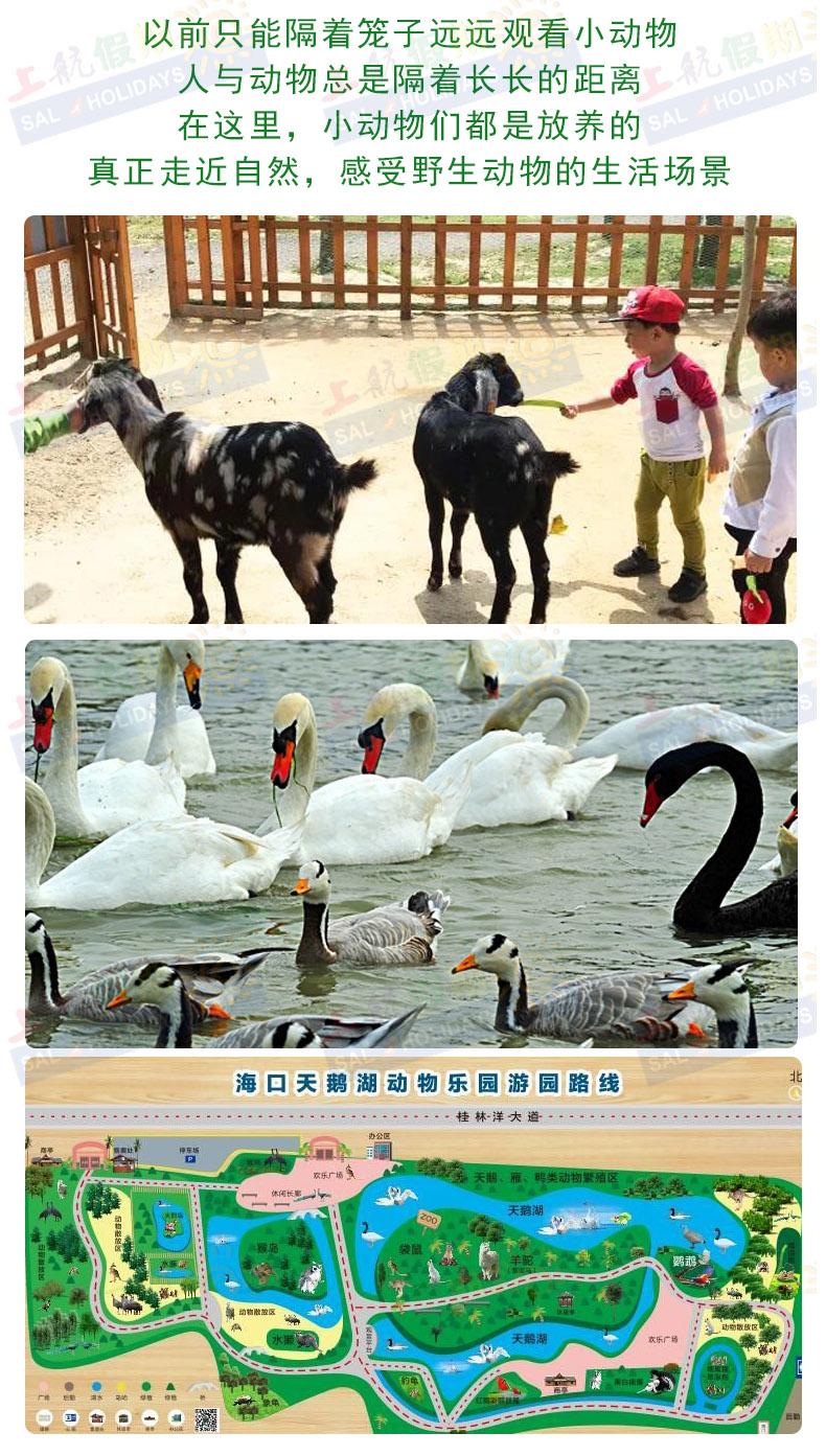 海口天鹅湖动物乐园基地门票(亲子游/生态散养/近距离