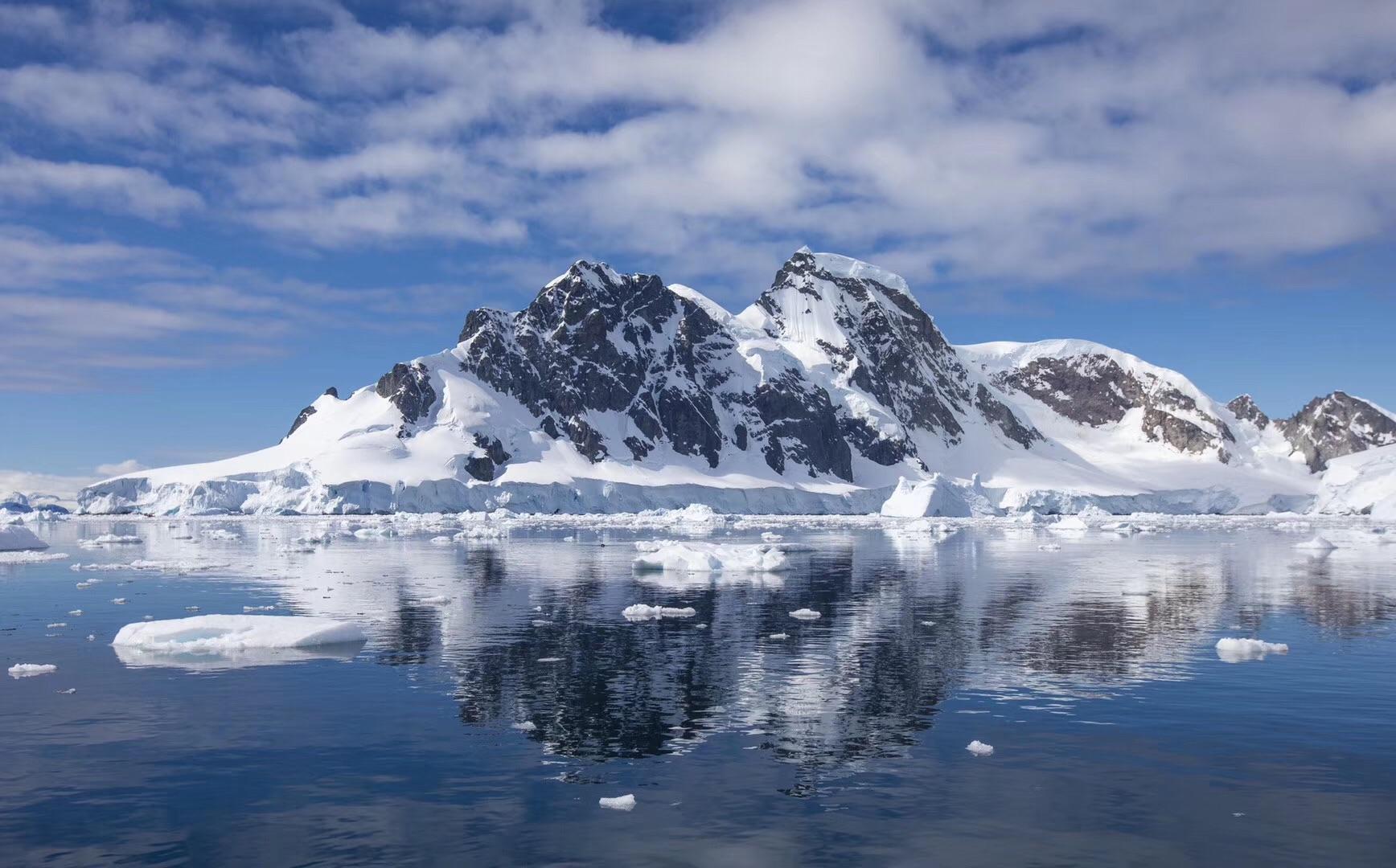 南极遇到好天气(爱心)_游记