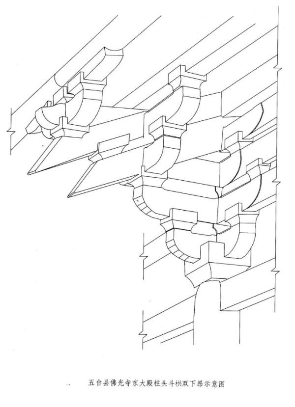 于唐代,它成为昂出现以前的主要结构方式,此法使柱,梁,斗栱在檐部形成
