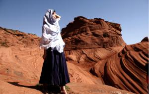 【靖边图片】执念红砂——靖边红砂峁砒砂岩