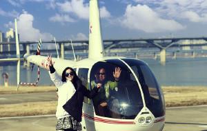 直升機俯瞰首爾,首爾五天四夜游,美食美景購...