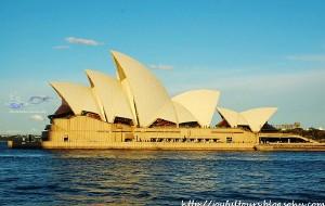 """【悉尼图片】闻名遐迩的巨大""""珍珠贝壳儿""""——新南威尔士州之悉尼歌剧院"""