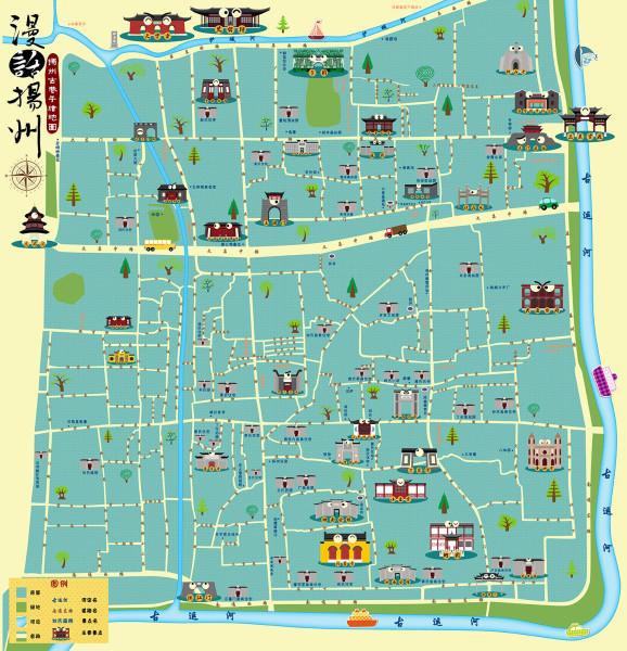 消夏计划 漫话扬州 扬州古巷游之 环线 古巷游