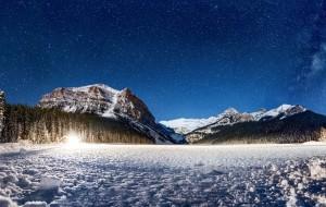 【班夫国家公园图片】【加拿大艾伯塔省】落基山下的冰雪奇缘