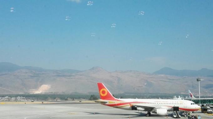 8点55分飞机从成都双流国际机场准时