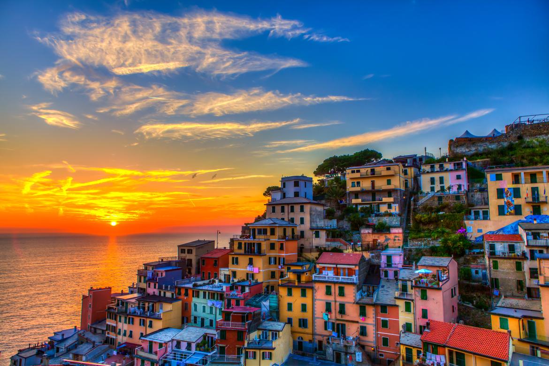 意大利�9��9櫺g�_意大利的五渔村