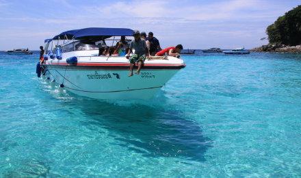 【超值特惠】普吉 皇帝岛 珊瑚岛双岛快艇一日游 浮潜