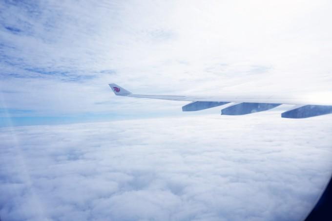 由于当天北京有雾霾,飞机延误起飞了