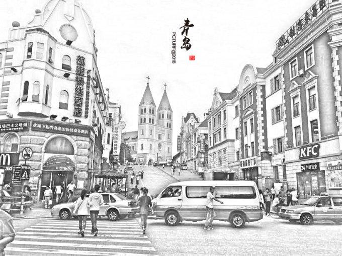 青岛著名景点简笔画