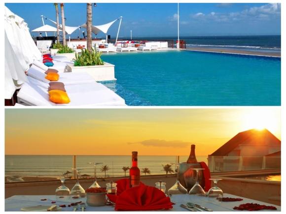 巴厘岛vue沙滩俱乐部海景下午茶(无边泳池,高性价比,落日晚霞)