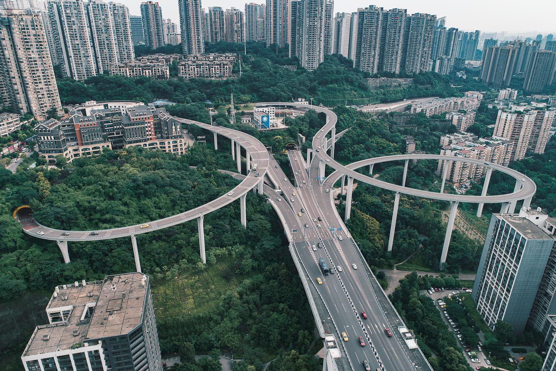 """""""桥都""""重庆,上帝视角下的这些桥真美~"""