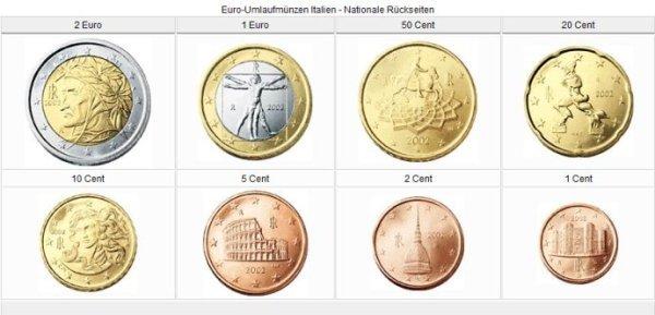 意大利   本地币——欧元区17个国家的硬币正面图案由   比利时   设计图片