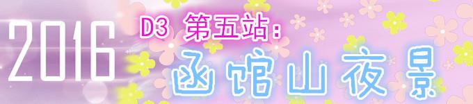 D3 第五站:函馆山夜景